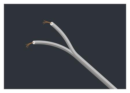 copper fiber wire simple illustration