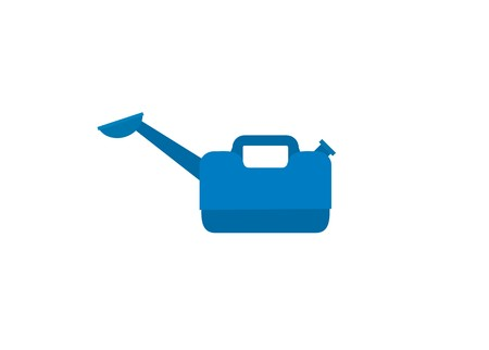 plant watering can simple illustration