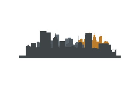 city skyscraper silhouette layer Ilustração