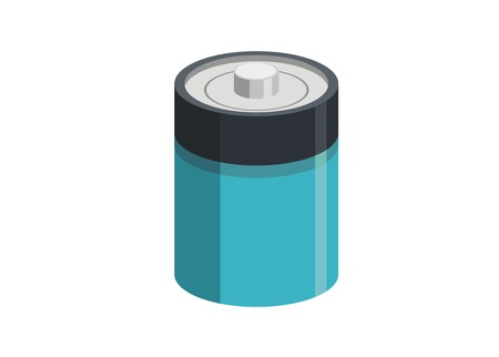 big size battery/C battery simple illustration Archivio Fotografico - 119086542