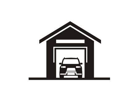 car garage simple icon