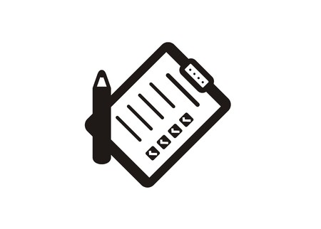 icône simple de papier de liste de contrôle