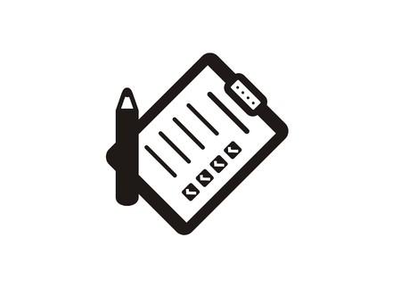 icono de lista de verificación de papel simple