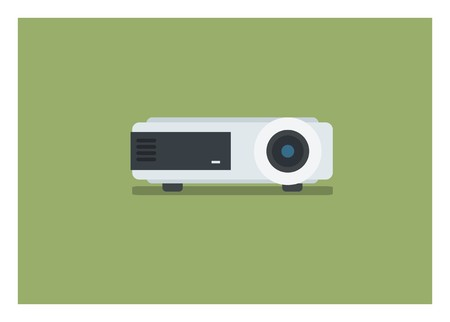LCD projector simple icon