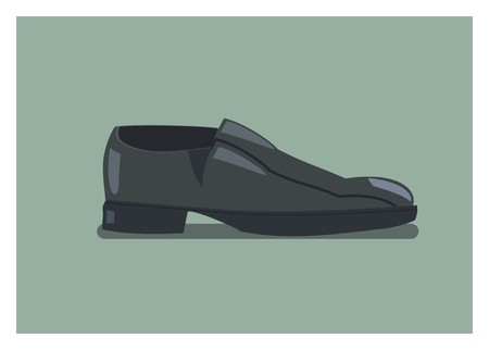 men shoes simple illustration Illustration