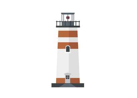 lighthouse building simple flat illustration