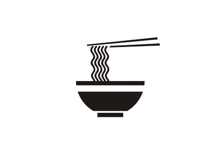 curly noodle for noodle restaurant icon