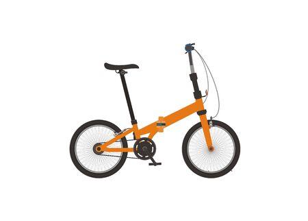 Folding bike. Simple flat illustration Illustration