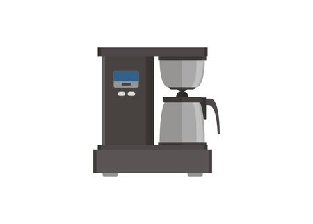 Home coffee maker simple flat illustration.