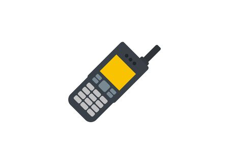 Satellite phone with shortened antenna.  イラスト・ベクター素材