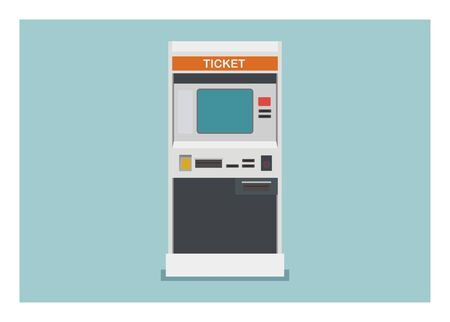 Ticket vending machine. Simple flat illustration.  イラスト・ベクター素材