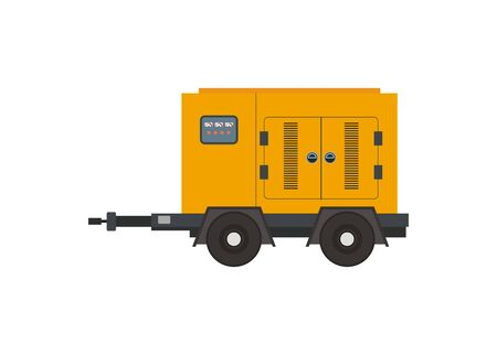 Moveable generator engine simple illustration