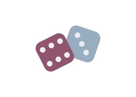 Pair of dice. Simple flat icon.
