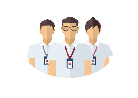 Group of people. Committee figures. Simple flat illustration.