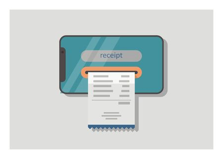 E-receipt. Simple flat illustration