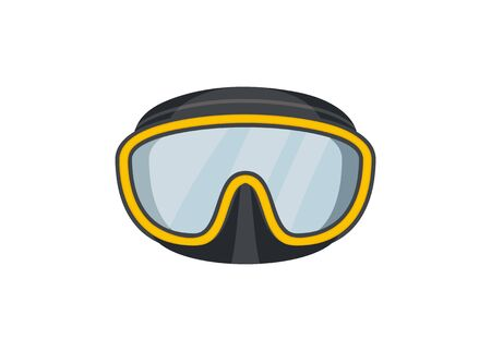 Scuba goggles. Diving goggles. Simple illustration.