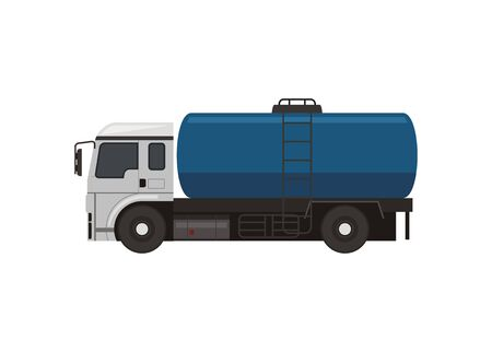 Tanker truck. Simple flat illustration Stock Illustratie