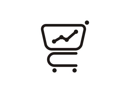 Market research. Simple icon in black and white.
