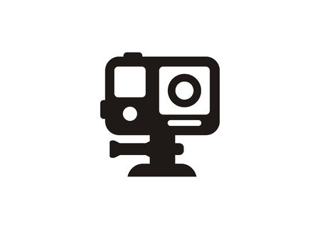 Action camera. Simple icon in black and white. Иллюстрация