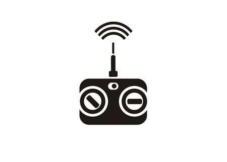 Toy remote control. Simple icon in black and white