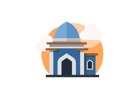 Small mosque building. Simple flat illustration  イラスト・ベクター素材