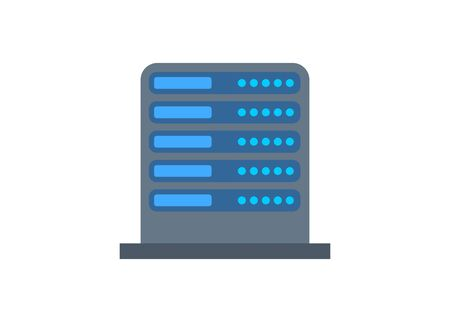 Server rack. Simple flat illustration