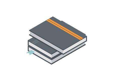 Book stack. Simple flat illustration.