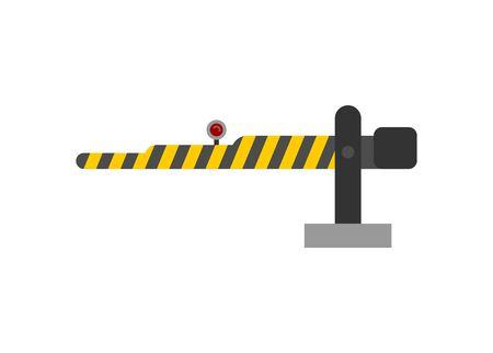 Crossing gate. Simple flat illustration Illustration