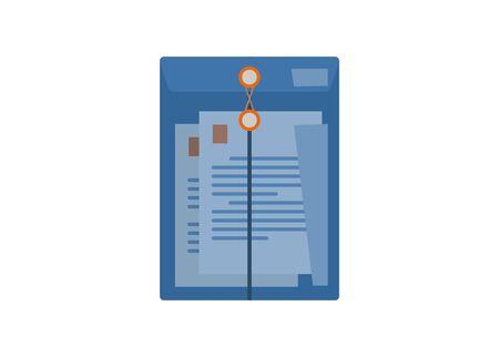 Transparent plastic envelope. Simple flat illustration. Illustration