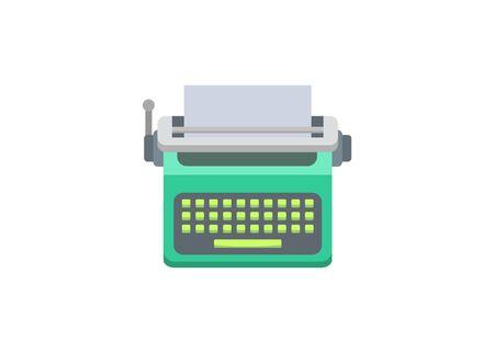 Typewriter machine. Simple flat illustration Ilustracja