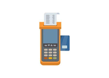 EDC machine. Card payment. Simple flat illustration