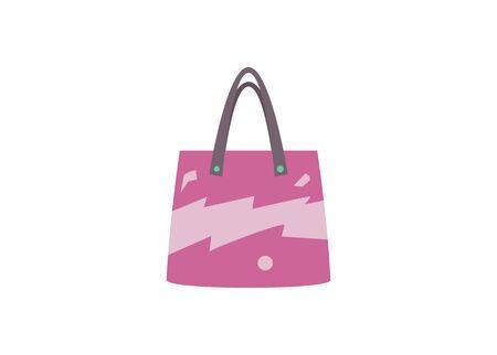 Hand bag. Simple flat illustration.