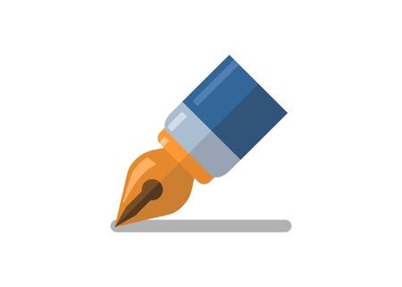 Pen tip. Simple flat illustration.