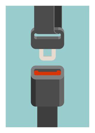 Seat belt. Simple flat illustration. Ilustracja
