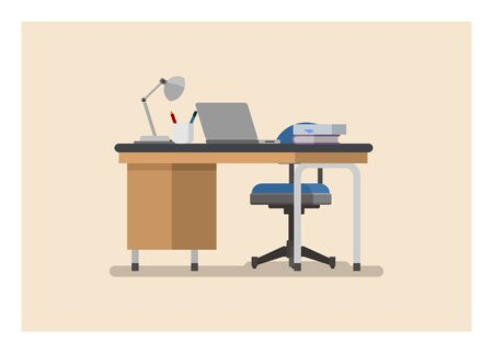 Workplace. Workspace. Simple flat illustration