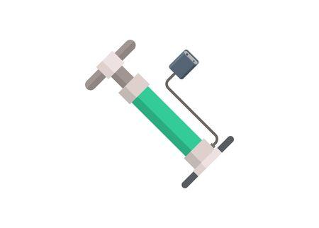 Mini air pump. Simple flat illustration. Ilustracja