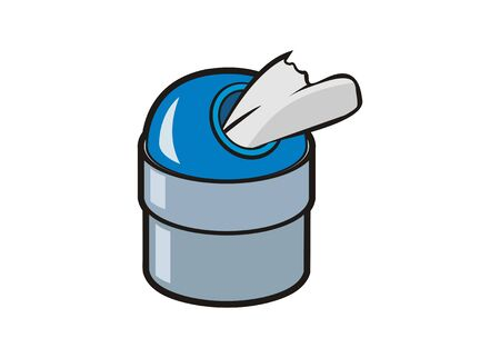 Tissue paper container. Simple flat illustration Zdjęcie Seryjne - 150087628