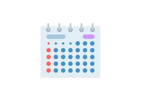 Desk calendar. Simple flat illustration Zdjęcie Seryjne - 151190495