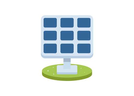 Solar panel. Simple flat illustration