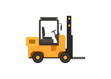 Forklift vehicle. Simple flat illustration