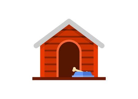 Dog house. Simple flat illustration