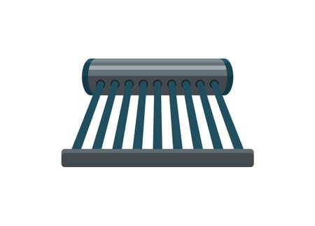 Solar water heater. Simple flat illustration