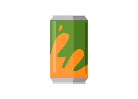 Soft drink can. Simple flat illustration