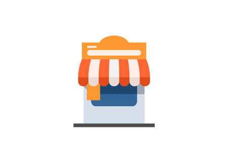 Small grocery store flat illustration