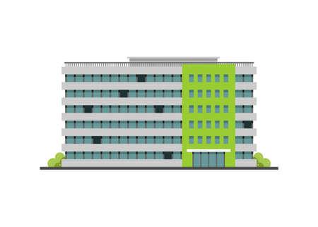 Large office building. Simple flat illustration Illusztráció
