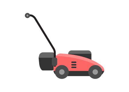 Lawn mower. Simple flat illustration