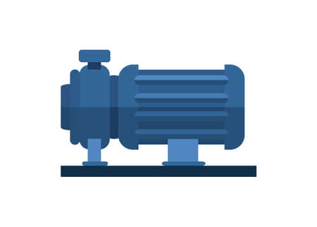 Electric water pump. Simple flat illustration.