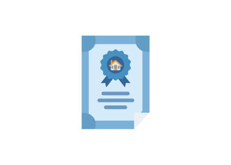 Home ownership certificate. Simple flat illustration