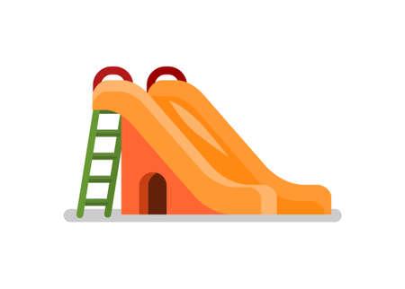 Playground slide. Simple flat illustration