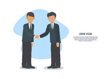 Two businessman having agreement. Simple flat illustration Illusztráció